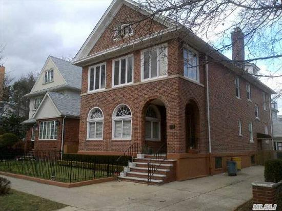 Stately Solid Brick 2 Family Colonial In Top Location.  Totally Upadated.  Wood Floors Throughout.  Separate 2 Car Garage.  Apartments Are Very Large And Can Easily Accommodate A Large Family.  Private Backyard And Huge Driveway.