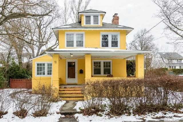Charming Front Porch Colonial In The Park Section. Large Living Room W/Fireplace,  Formal Dining Room,  Renovated Kitchen, 4 Bedrooms,  1.5 Baths,  Large Deck,  Cac,  1 Car Garage Carport,  Close To Town,  Schools,  & Lirr,