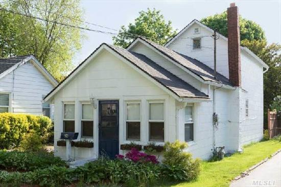 Just Listed & Priced To Move! Spacious,  Sweet Storybook Home In Move In Condition. Spacious Living Room And Eat-In-Kitchen. Detached One Car Garage And Basement. Quiet Street And Sayville School District. Taxes W/ Basic Star $6114.26/Yr. Low Taxes! Gas Dryer And Stove. One Of A Kind Home! Don't Miss !