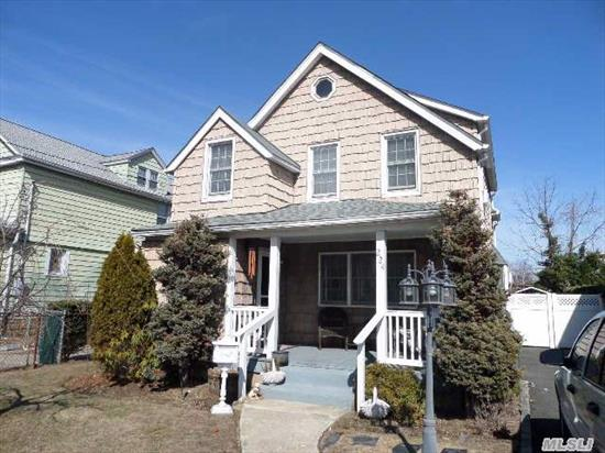 Charming 3 Bedroom Colonial On Cedarhurst/ Woodmere Border.  Basement Is Dry,  Windows And Roof Have Been Replaced Recently.