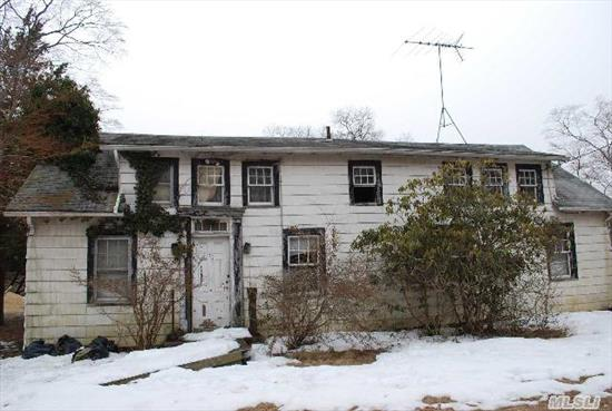 Property Is Sold Totally As Is.  Home Is Not In Move In Condition.  Roof Is Caved In And May Be A Knock Down.  4.6 Acres Of Residential Parcel.  Buyer Should Perform Due Diligence Regarding Any Possible Sub-Division,  Zoning Changes And/Or Property Restrictions. .  1.5 Acres Are Cleared,  3.1 Wooded