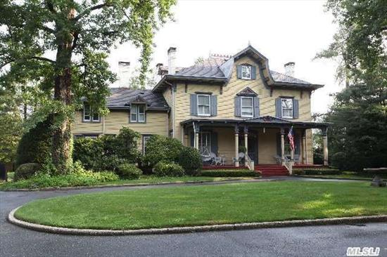 Make This Your Dream Home!  Wonderful Victorian/Colonial With All The Classic Details Set On Private Acre Plus!  Legal Accessory Apartment On 2 Levels With 2 Private Entrances.  Wonderful Porch,  4 Fireplaces,  2 Staircases,  Central Air Conditioning,  Circular Driveway And More!