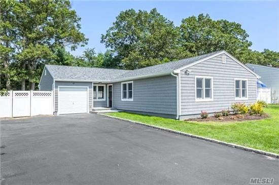Cozy L-Shaped 3Br, 2 Bath Ranch W/Lr, Dr, And Eik Has Been Extensively Renovated Both Inside And Out In The Summer Of 2017. Some Of The Major Renovations Include Siding, Roof, Windows, Doors, Granite Kitchen, Whirlpool Stainless Appliances, Washer, Dryer, Bathrooms, Heating And Plumbing...
