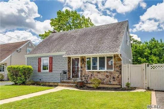 Lovely Cape Situated Mid-Block,  4 Bedrooms, 1 Bath, 100 Amp Updated Panel, Eik W/ Oak Cabinets, Partial Finished Basement W/ Ose, Newer Boiler And Water Tank,  Well Maintained Yard, Close To Shopping,