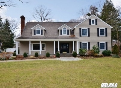 Extensively Renovated In 2004-07,  This Center-Hall Colonial Nestled On 1 Acre On Cul-De-Sac. Front Covered Porch & Beautiful Landscaping Add Immense Curb Appeal.  Two Story Foyer,  Living Room With Fireplace,  Formal Dining Room,  Eat-In Kitchen With Large Dining Area. 2 Brs On 1st Floor And 4 Brs On 2nd Floor. Gorgeous Usable Rear Yard With Pool & New Outdoor Kitchen.