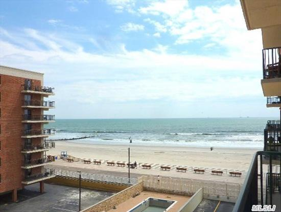 Luxury Oceanfront Building,  Gorgeous/Mint 2 Br,  2 Bths,  Hardwood Fls,  Lg Terrace With Oceanviews,  State Of The Art Kitchen,  Hi-Hats,  Year Old Heating Units,   Built In Furniture Stays,   2 Parking Spots,  Concierge,  2 Parking Spots (1In And 1 Out),  In-Ground Pool,  Steps To Beach
