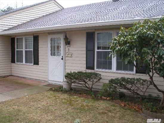 Coveted Hampton Model End Unit. 2Br,  2Baths & Garage. Located In Secluded Area   Home Features Pergo Entry,  Updated W/D,  Refrig,  Dw,  Stove. 1 Yr Young Cac. All New Windows,  Redone Baths,  New Garage Door. Large Bedrooms W/ Loads Of Storage. Brick Patio. Loads Of  Activities With Beautiful Clubhouse And Pool.
