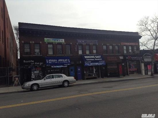 This Highly Visible Prime Property Has 5 Retail Store In Ground Fl. Frontage Of 75 Ft. W/Basements Along With 4 Offices In 2nd Fl. ( Just Half Block Off From Northern Blvd)