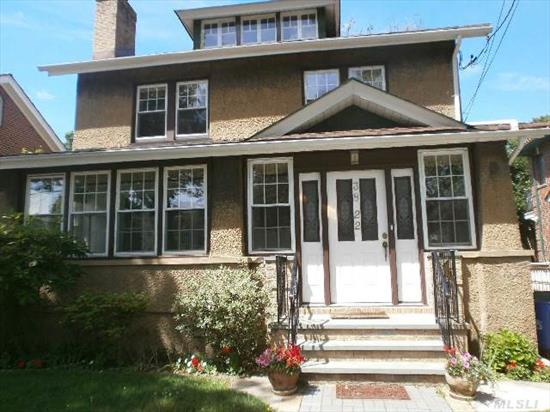 Detached Two Family Colonial Used As One Family,  4 Bedrooms,  2 Baths,  Hardwood Floors,  Fireplace,  Open Basement,  Living Room,  Formal Dining Room,  Den,  Eik,  Spacious Yard,  District 26. Property Has A C/O (Certificate Of Occupancy) For A Two Family House.