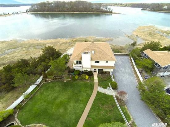 Spectacular Beachfront Home On Duck Island Harbor W/ Beach Lot On The Sound.  Panoramic Breathtaking Views From Most Every Window. Fabulous Outdoor Living Space W/Shower & Hot Tub. Incredibly Maintained Inside And Out. Resort Style Living At Its Best!!! Simply Move In & Enjoy!