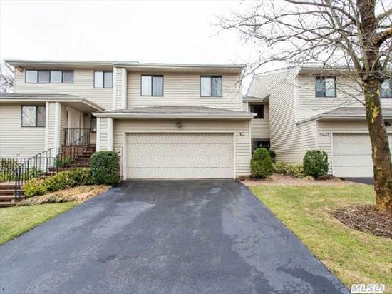 Beautiful Aspen Model In Desirable Woodbury Greens - Perfectly Located With Views Of Woods And Pond From Large Deck,  Three Floors Of Living,  Syosset #2 School District,  Community Pool And Tennis,  Alarm,  3 Zone Heat And Cac,  Central Vacuum,  Fully Finished Basement And Garage.  Priced To Sell - Lowest Priced Unit In The Community!