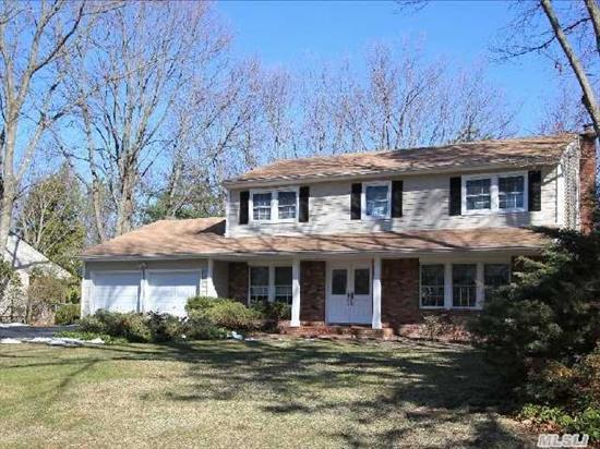 Great Value - Large Center Hall Colonial Nestled In A Quiet Cul-De Sac. Features Oak Cabinetry, Cac,  Wood/Tile Flooring,  Updated Windows,  Double Ent. Doors,  Sliders,  Maint. Free Vinyl,  Igs,  Paver Walkways And Patio,  Brick Faced Ent.,  And All Weather Bbq Patio Too.  2 Car Garage,  4 Br's All Nice Size Rooms,  2.5 Baths On Flat Lush Property W/Basement.   Taxes With * $14, 075