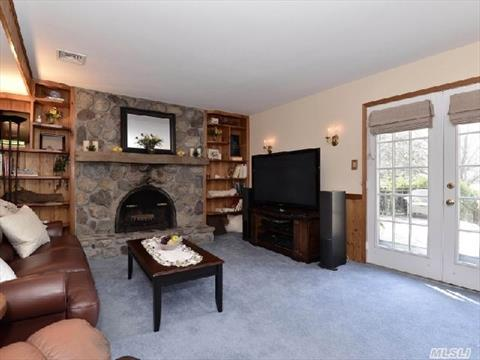 Family room with cozy fireplace