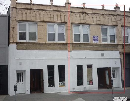Store Front (18X70/Lot 18X100); Basement (18X70); Yard In Rear Of Bldg (18X30);   2nd Floor - 2 Apts.  (1 Bed/2 Bed).  Apts Fully Renovated In 2010;  Separate Meter - All Units Responsible For Their Own Utilities.   Commercial Space (New Tenant) Will Renovated.  Reno Will Include New Storefront,  Hvac,  Water Heater,  Landscaping).