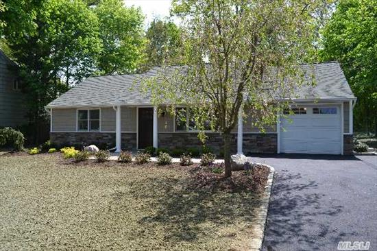 Charming Renovated All New Ranch In The Village Of Northport In The Most Desirable Farm Area,  Eik With All New Ss Appliances Granite Countertops,  Crown Moldings,  Hi-Hats & Hdwd Flrs Throughout. Spacious Flat 1 Acre Yard W/Inground Sprinklers. Close To Village & Shopping.  Must See!