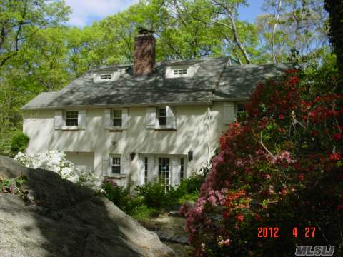 English Country Home With Legal Caretakers/Guest House/Cottage Winter Waterviews & Short Walk To Beach On L.I. Sound + Dock   On Harbor W/Mooring Field (Yearly Dues Requ.), Auto Generator, Built Like No Other Home! Plaster, Built-Ins, New Windows & Doors, Lots Of Evergreens Thru-Out, Level Lot.'Can Be Sold Furnished' Price Drop! Low Taxes!