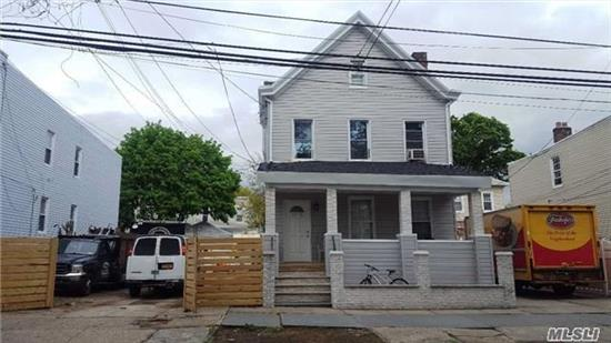 Investor's Delight!!! Fully Renovated And Detached Victorian Two Family House 40X100 + Adjacent 25X100 Vacant Lot. 65X100 Total. Parking For 8 Cars. Both Apartments Have 4 Bedrooms And 2 Full Bathrooms.