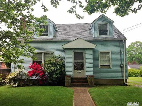 This 4 Bedroom,  2 Bath Cape Needs Tlc. Perfect For A Handyman Or Contractor. Close To All.