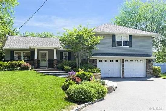 Diamond,  Totally Gutted 1956 Split Rebuilt,  Everything New,  2007. Gorgeous And Unique,  Generous Family Living In Harborfields! Immaculate,  Well Appointed Home With Open Fl Plan. Architectural Foyer,  Cath Dr,  Large Eat-In Country Kit W Granite And Ss Appl. 3.5 New Baths. Master W 2 Walk Ins And Bath W Soaking Tub And Shower. Beaut,  Landscaped,  Flat .62 Acre. A Must See!!