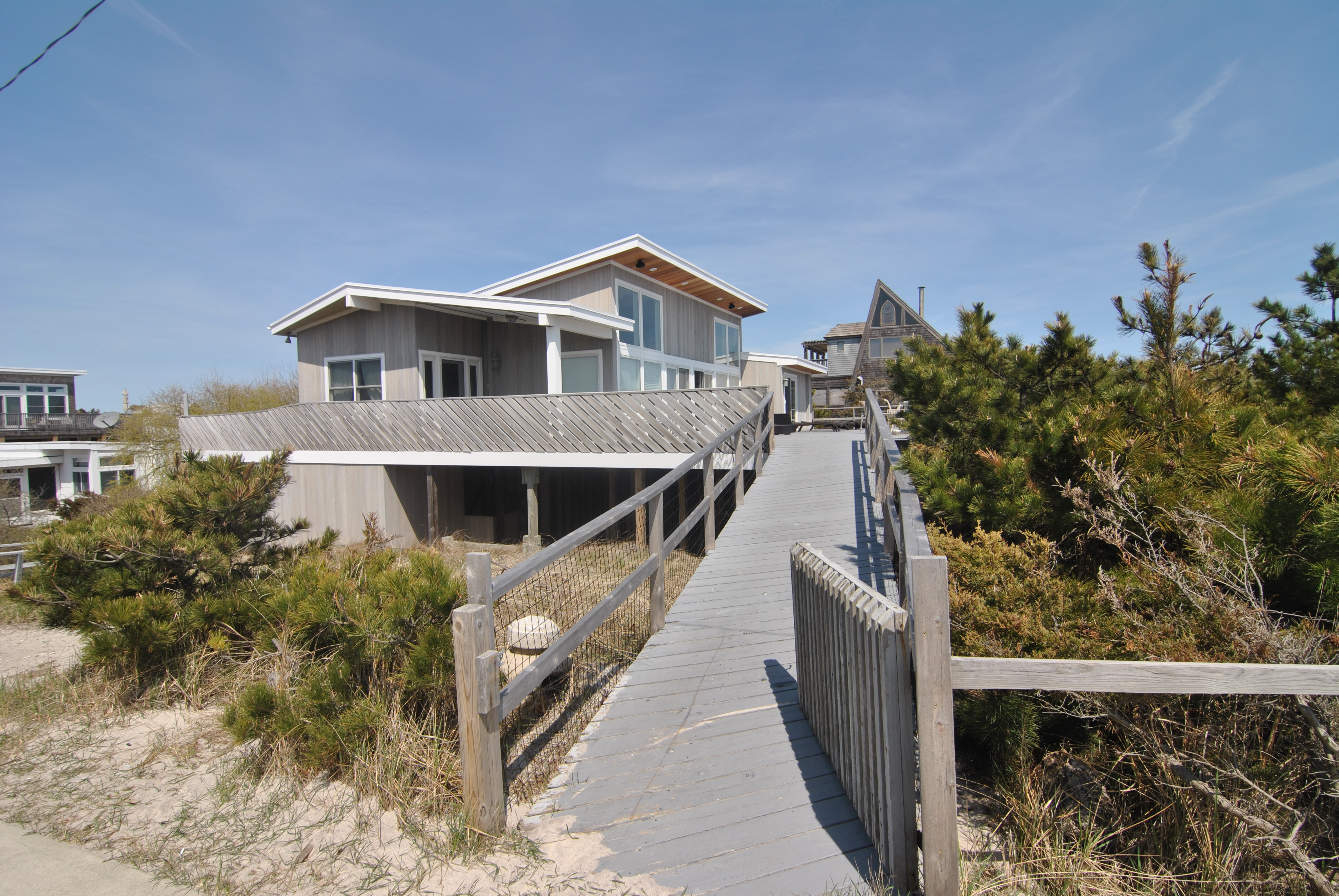 Large 5 bedroom beachfront home. Huge, ocean facing deck. Incredible views. Fully renovated. 3.5 bathrooms. Vacation in style this year. Fabulous Seaview location.   Available for June and September 2017.