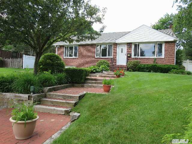 Charming Open Floor Plan Raised Ranch On A Dead End Street,  Offers: Semi Updated Eik,  Granite Cnters,  Tile Back Splash,  New Appls,  3Brs, 2Fullbaths,  Hwflrs, Full Finbsmt Includes: Eik,  Lr,  2 Add'l Rooms,  Separate  Generator Panel,  1 Gar,  Igs,  Ighted Pool W/ Pavers,  Deck,  Patio,  Beautifully Landscaped,   Shed Is A Gift,  Smithtown Dist#1 Taxes 7732.81 W/Star, Room For Mom/Guest