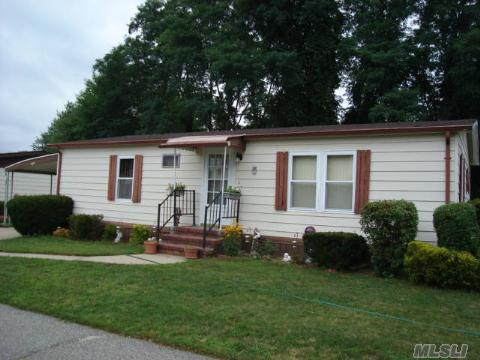 Very Well Kept 2 Bedroom, 2 Bath Mobile Home In Active 55+ Adult Glenwood Village. Fees Are $411 Which Include, Water, Cesspool, Garbage Pick Up, Street Snow Removal & Use Of Community Pool, Fitness Center & Outdoor Park. Slider Leads To Private Patio & Back Yard, Shed, New Windows, New Counter Tops, Newer Appliances. Lowest Priced Home In Community, Owner Wants To Sell!