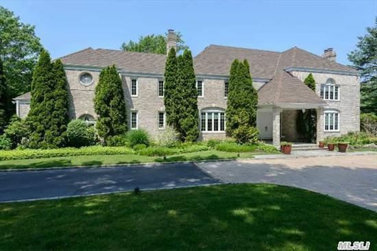 Stately Colonial Sitting On 2 Flat Acres Of Resort Style Living. Inground Pool, Poolhouse, Tennis Court Play Area,  All Surrounded By Architecturally Designed Landscaping.This Brick Beauty Was Built For Entertaining. With Multiple Kitchens Outside & Inside - A Real Treat To Show. Buyer Must Verify All Information.