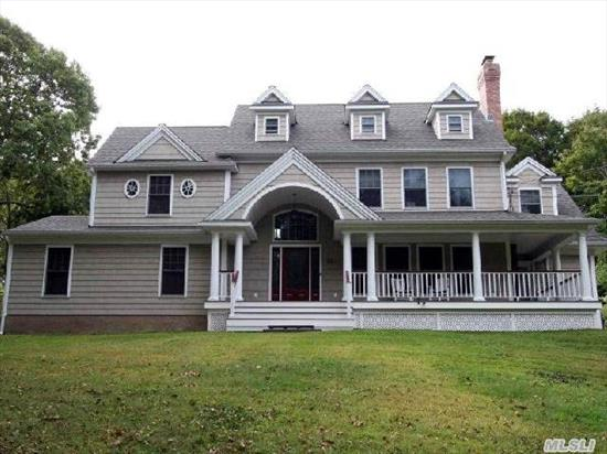 This Custom Built Home Has Many High End Features. Attention To Detail Through Out.Open Floor Plan. Top Of The Line Appliances And Cabinetry.  Hardwood Floors Through Out. Spectacular Mbr And Bth. Numerous Wic's.  Private Beach (Dues Req'd). Designers Own Home. Home Was Featured In Newsday