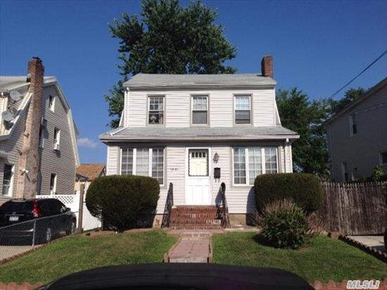 Prime Flushing Col On Solid 40X100 Lot On A Five Lined Block. This Home Is A Commuters Dream,  Just Short Walk Off From The Lirr/ Bus On Northern Blvd. Lr/ Dr ,  Ample Eik. Base Newly Fin W/ A Fam Rm/ Full Bath. Up Feat 3 Br's W/ Full Bath & Walk-Up Attic. Close To All Transportation. P.S. 107,  I.S. 25.