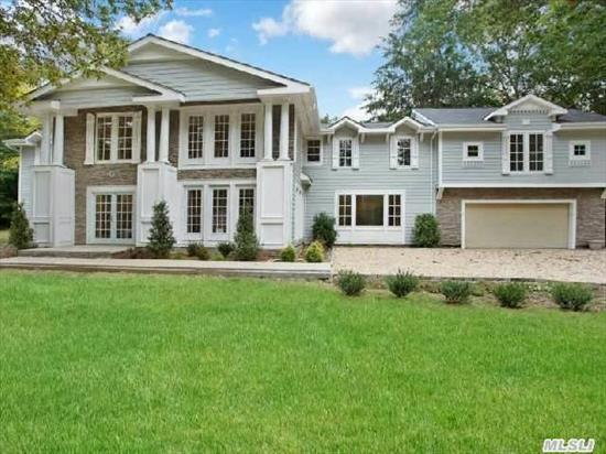 Totally Rebuilt & Expanded In 2014. 7000 Sqft. Hampton Style Colonial Offers 3 Dens,  New Custom High End Kitchen,  All New Bathrooms,  Architectural Details,  Moldings And Built-Ins,   Wood Floors. All New High Efficiency Systems. Magnificent 2 Acres At End Of Country Cul-De-Sac. Proposed Beautiful Pool Included. Price Is Reduced By $150, 000 If Proposed Pool Not Desired.
