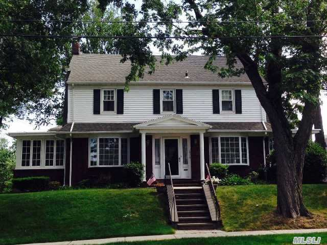 Beautiful Center Hall Colonial Of 7600' Of Well Manicured Property.  First Floor Supports A Large Living Room With Gas Fireplace,  Fdr,  New Ss Kitchen,  Breakfast Nook,  Sun Room,  Full Bath.  2nd Fl. 3 Bedrooms,  Updated Full Bath,  Hardwood Floors Throughout,  New Windows,  Newer Boiler & Hot Water Heater. Original Owners.