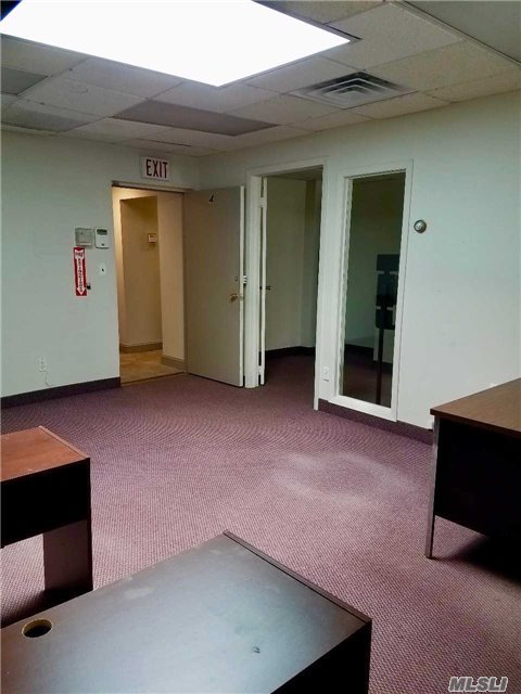 Office On The 2nd Floor Of Small Commercial Building. Directly Across From Lynbrook Train Station And Bus. Walk Into A Large, Bright Open Area W/Skylights. Separate Office Off The Main Area. Break Room And Private Bathroom. Central A/C. Approximately 500Sf. Municipal Parking W/In 1 Block. Lease Terms Negotiable.