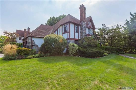 A Bit Of Britain On Long Island. This Warm And Cozy 3 Br, 1.5 Ba Classic Tudor Boasts Stained Glass Windows All Around, Intimate Breakfast Nook, Granite Corner Fireplace, Spacious Family Room, Infrared Sauna, 2 Car Attached Garage, Full Attic W/Cedar Closet And Partially Finished Basement.