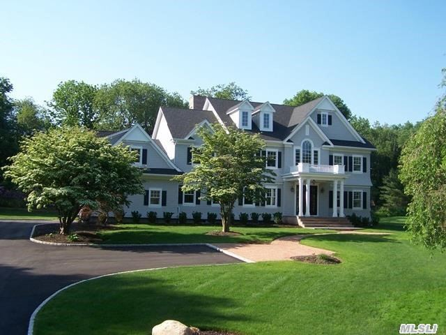 New 6000 Sq Ft Cedar Shingle-Style 5 Bedrm Colonial On Flat 2 Acres On Cul-De-Sac. 2 Story Foyer,  5 Oak Floors,  9' Ceilings,  Gas Heat,  2 Fireplaces,  Mudroom,  Backstairs,  34' X 20' Finished Bonus Rm & Laundry On 2nd Floor. Gorgeous Classic 20' X 20' Kitchen W/Marble & Granite Counters,  Gas Cooking & Separate 14' X10' Breakfast Rm.  Lh Village Beach,  Mooring,  Tennis & Camp.