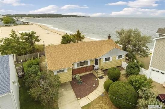 Location! Location! Location! Step Out Your Back Door To Your Own Private Beach. Watch Spectacular Sunsets All Year Round.  Enjoy The Hampton Lifestyle Without The Long Drive. Come See!!!