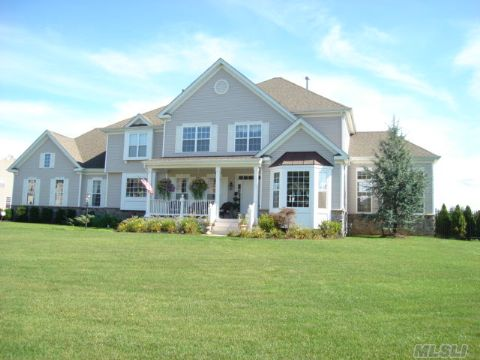 For The Pickiest Buyer! Perfect Victorin In Birchwood @ Wr All The Upgrades! Gourmet Kitchen W'ge Commercial Grade Monogram Appliances, Granite & Butler Pantry. Custom Hardwood Floors, 40X80 Sunroom, Wainscoting, Master Bedroom Suite W/Sitting Rm & Jacuzzi, Beautiful Landscaping W/Private Back Yard & Smart House Technology Peconic Tax Applies