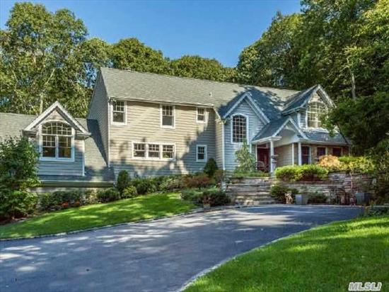 A Beautiful Journey Awaits U When U Drive Up To This Young & Striking Res. Set On 2 Acres W/Defined Style, Substance& Sophistication. Galaxy Of Amenities,  Inc Breathtaking Landscape, Expansive Stone Work, Patios & Terraces.Extraordinary Millwork, Gourmet Chefs Kit, 10'Ceils Exquisite Carrera Mstr Bth. Architectural Inspired Palladium Wndws. 2009 Total Renov. Lo Taxes,  Pvt Beach