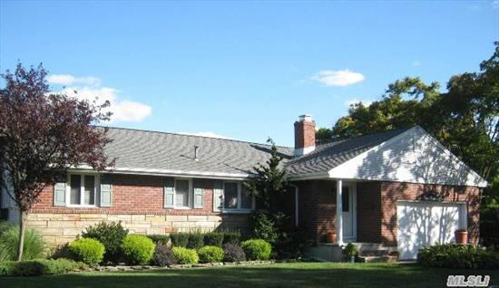 Brick Front Ranch In Desirable Farmingdale Village,  3 Br,  1 Bath,  Roomy E-I-K,  Florida Room,  Finished Basement W/ Many Rooms,  Quiet Street,  Beautiful Location On Nice Sized Lot,  2 Car Garage. Don't Miss This One!
