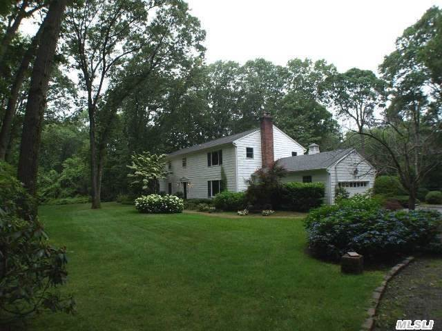 Classic Colonial Set On Lush, Flat Property. Inground Gunite Heated Pool. This Residence Has Been Mostly Updated Including New Gourmet Kitchen, Luxurious Mstr Bth & Mstr Br, Family Rm And Marble Fireplace. Custom Mouldings, Living Rm, 4 Seasons Rm, Office & Bedrooms. All Large Principal Rooms For Entertaining! Private Setting On Quiet Cul De Sac. Beach & Mooring Rights.