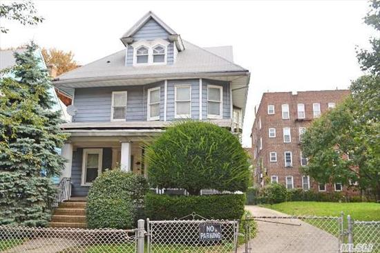 Double Lot Total Size 82X100.  40 X 100 (With House) And 42X100 (Vacant Land).  R5 Zoning.   2 Car Detached Garage.  Conveniently Located Directly Across The Street From Subway And A Few Blocks From Brooklyn College.  This Property/Land Will Not Last!