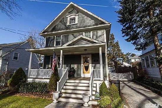 Spectacular Village Colonial. Completely Renovated-New Hardie Board Siding,  Granite/Stainless Kitchen,  New Baths,  French Doors,  Windows,  Custom Moldings. Close To Village. Taxes W/Star $8, 397.01