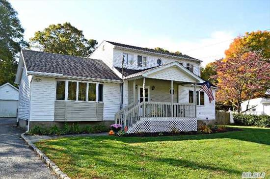 Hauppauge Schools/Tax, Gleaming Hardwood Floors,  New Carpet In Basmt,  1 Yr Old Above Ground Oil Tank (After Abandonment Of In-Ground Tank),  New Full Mstr Bath,  Gas Cooking,  New 'Bath Fitter' Tub In Family Bath,  Updtd .5 Bath,  Cathedral Dr,  Salt Water Ig Pool,  Deck,  Fully Fenced,  New Pergo Br Floor,  Hw Heater 1 Yr Old,  Wired For Central Alarm,  Dead End Street,  Flat 1/2 Acre.