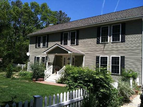Spacious 4400 Sq Ft Colonial Sits On A Secluded .80 Acre Offering 2, 700 Sq Ft Of Main Living Space. 1st Floor W/Eik, Fdr, Lr W/Fireplace, Den, Office/5th Bdrm & Full Bath. The 2nd Floor Offers Master Suite & Bath, 3 Additional Bdrms & Bath & Loft. 1250 Sq Ft Legal Finished Bsmt & 450 Sq Ft Legal Accessory Apt W/Bdrm & Full Bath Makes This The Perfect Investment.