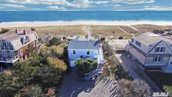 Classic Beach House! 3 Br, 2 Bath Oceanfront Cottage. Light And Bright Open Concept Living And Dining Area Provides Both Bay And Ocean Views. Expansive Decking Allows For Plenty Of Space For Outdoor Relaxing Or Entertaining. Row To The Bay Rounds Out This Pristine Offering.