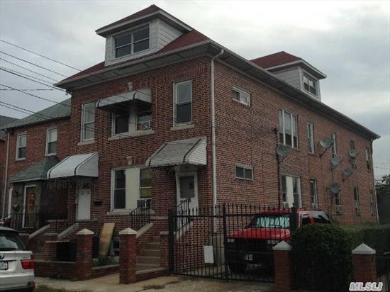 Legal 4 With 2 Garage,  Separate Basement Entrance & A Huge Attic.  Well Kept Interior & Fairly New Roof.