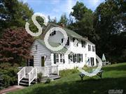 Charming Colonial With Low Taxes On A Beautiful,Private Property, Main Home Offers 4 Brs, Lg Living Room/Fpl, Formal Dining Room And Library/Fpl. There Is A Separate Barn With Brs, Baths, Great Room W/Catheidral Ceil,2 Car Gar Attached To It, Plus 2Car Dettached Garage, Unlimited Posibilties.