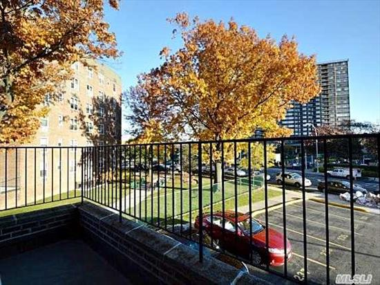 Corner 1550 Sq.Ft. 3 Bed./2 Bath With Rare Terrace. Apartment In Move In Condition! Two Parking Spots Included~one Outdoor, / $23 Per Month One Indoor Garage./$46 Per Month. Top Location~conveniently Located In Prime Bay Area. S.D #25. Easy Access To All Major Highways,  Minutes To The Lirr. Express Bus To City Right Outside Your Door.