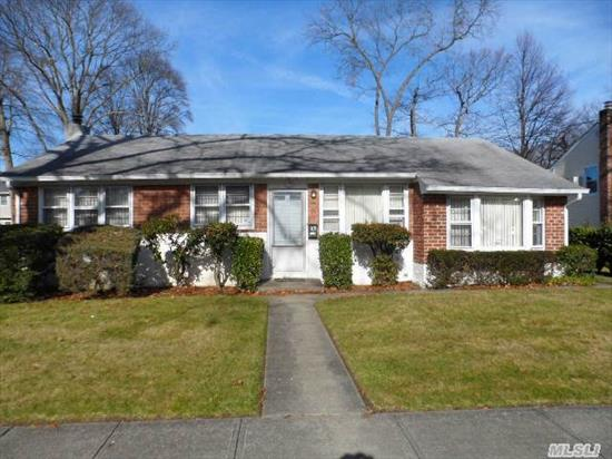 Clean,  Expanded,  & Updated Ranch In Massapequa Woods School District 23 On Oversized Lot With Central Air Conditioning,  Formal Dining Room,  Large Eat-In-Kitchen,  Hardwood Floors,  Full Basement,  Large Backyard And Butterfly Bushes! Mid-Block Location...