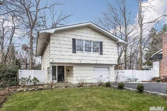 Updated Hi-Ranch,  Main Level Features: 3Brs,  Foyer,  Eik,  Lr/Dr,  Eik,  Renovated Bath. Lower Level Features Fam Room,  Utility Room,  .5 Bath And Garage. Home Has Cac And Village Amenities Which Include: Tennis,  Boat Slip,  Summer Camp And Walker Beach.