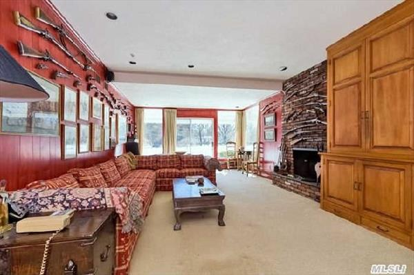 Family Room with fireplace and wet bar